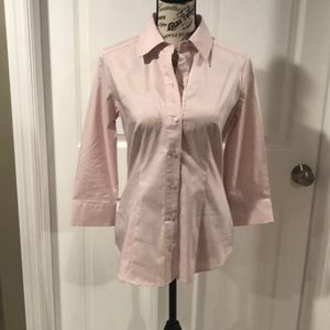 New York & Co button down blouse pink size S